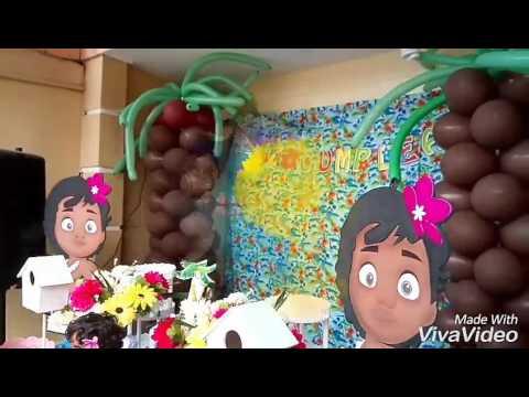 Decoraci n fiesta moana youtube - Decoracion fiestas bebes ...