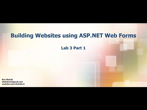 Lab 3 Part 1 - What is ASP.NET Web Forms מעבדה 3 חלק 1