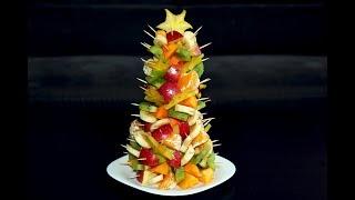 Ёлка из фруктов. Новогодний десерт. Новогодние рецепты. Лайфхак. Фруктовая ёлочка. Моя Dolce vita