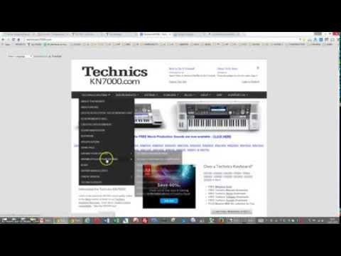 TECHNICS KN7000 DOWNLOAD STYLES - YouTube