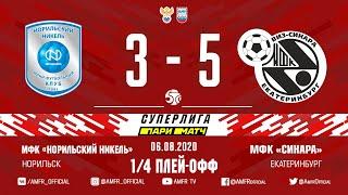 Париматч Суперлига 1 4 плей офф Норильский никель Синара 3 5 Матч 4