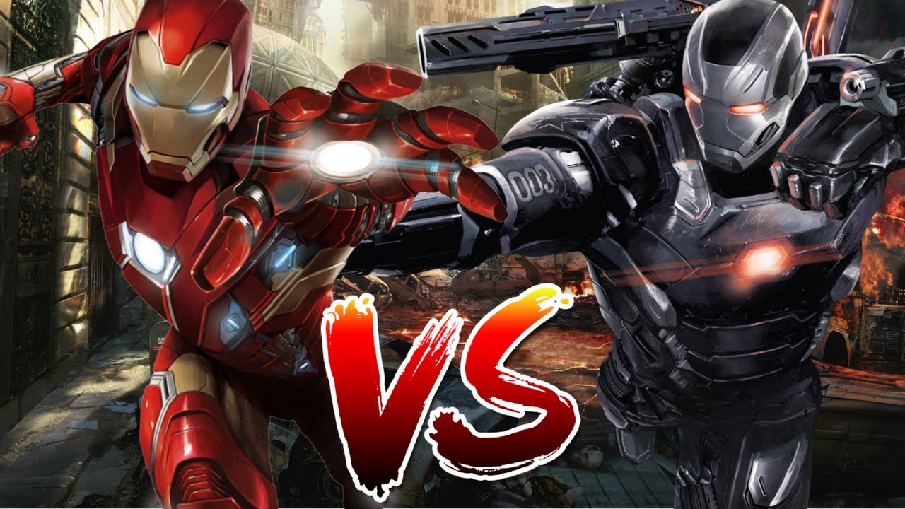 iron man vs war machine who wins youtube