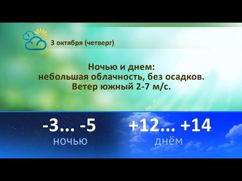 Погода на 3, 4, 5 октября