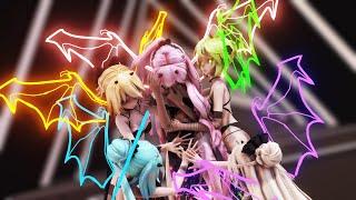 【MMD】一騎当千/Ikkitousen 【Tda Black Beauties】【1080p60fps】