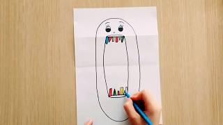Kağıttan Farklı  Çizimler- Ağzı Açıp Kapanan Yüz Çizimi