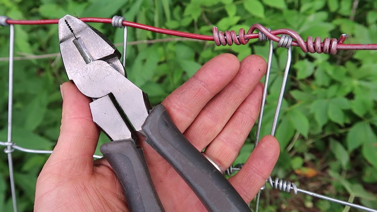 HOW TO Splice Woven Wire Fence - With Just Pliers - YouTube