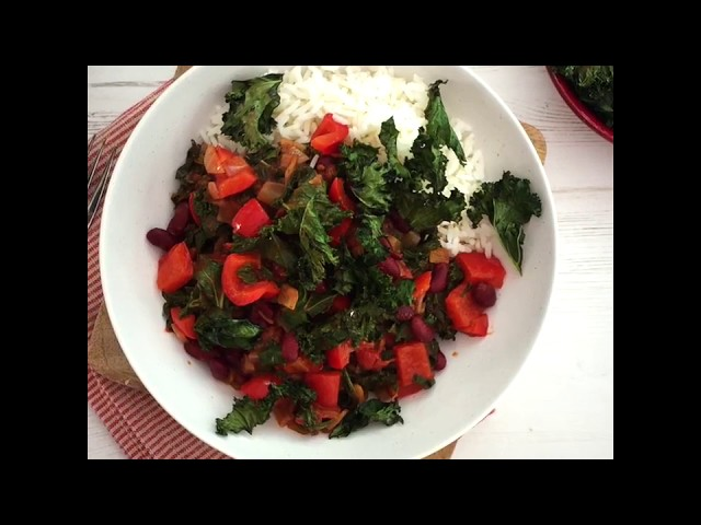 Video Recipe for Veg Chilli and Spicy Kale Crisps