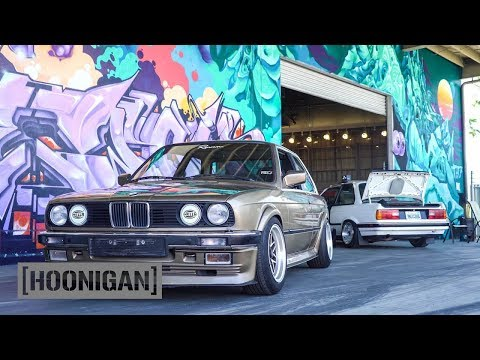 [HOONIGAN] DT 054: BMW E30 Custom Steering Wheel Install (Hert Burnout)