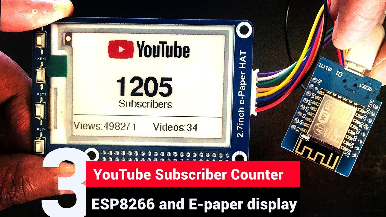 HowTo: ePaper with ESP8266 and Waveshare 1 54″ 3-color – i386