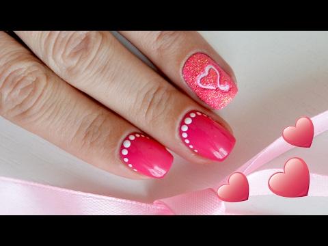 Маникюр ко Дню Святого Валентина. Valentines Day Nail Art