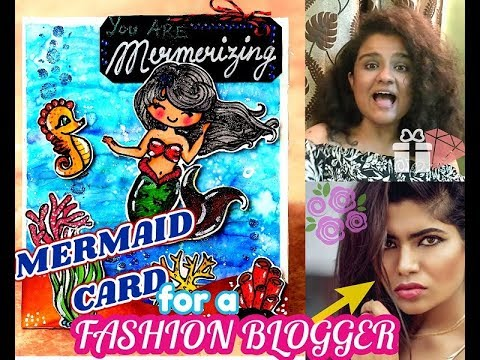 Underwater World Card| Inspired from KWerner | For the Fashion Blogger Roommate