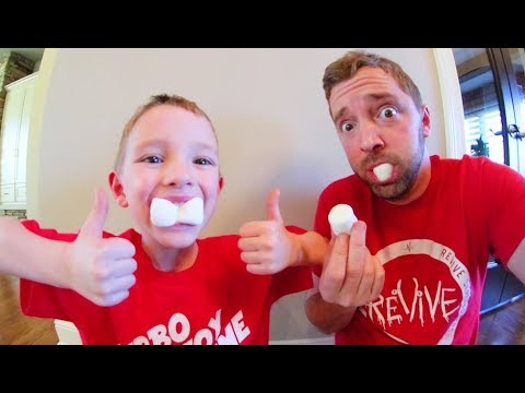 Father & Son CHUBBY BUNNY CHALLENGE! / How Many Marshmallows?!