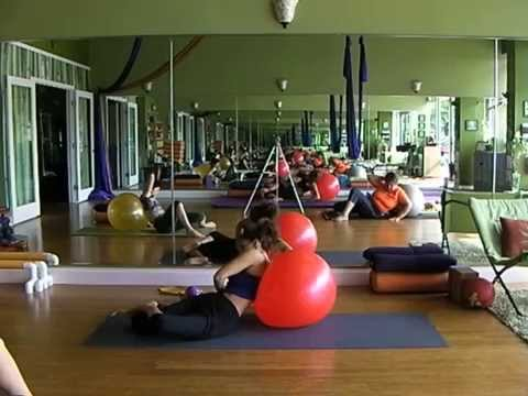 Emily Sabo's 6-28-2014 Yoga Class, Indialantic, FL (Stability Ball / Thera-band full body workout)