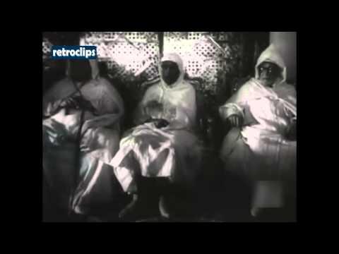 1953 français Maroc Sultan Mohammed ben Arafa General Guillaume Marruecos Francés