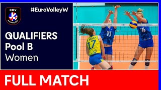 Sweden vs. Ukraine - CEV EuroVolley 2021 Qualifiers Women