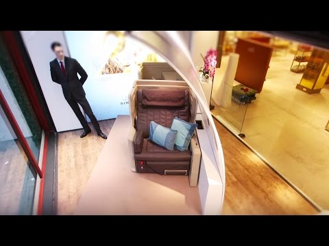 Business Class Seats Display at Harrods | Singapore Airlines