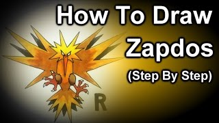 How To Draw Zapdos Step By Step