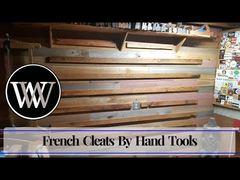 How to Make French Cleats With Hand Tools | Hand Tool Woodworking Project