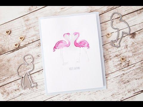 Flamingo {heart} card | Els Brigé design