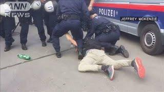 環境保護デモで頭ひかれそうに・・・警察官らに批判の声(19/06/10)