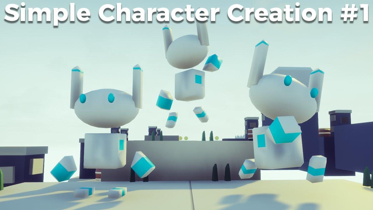Blender Simple Character Modeling Tutorial : Simple character creation modelling in blender game