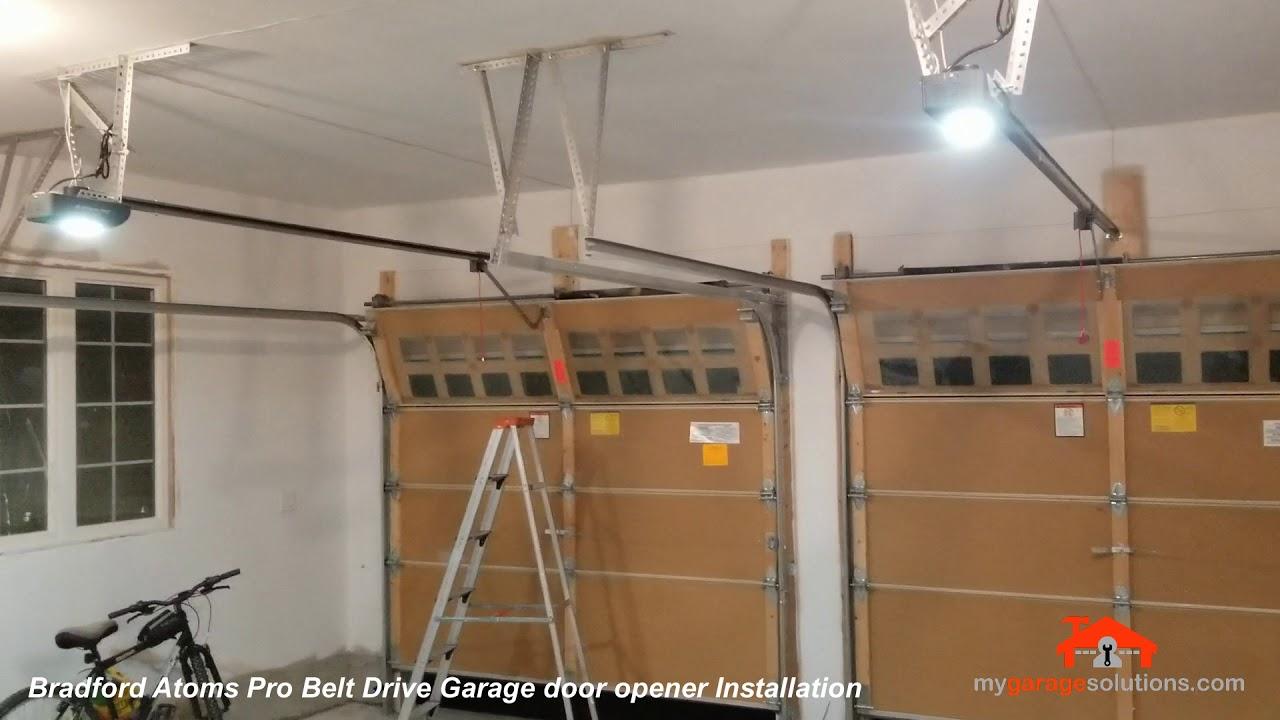 Atoms Pro Belt Drive Garge Door Opener Installation Bradford Youtube