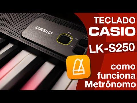 TECLADO CASIOTONE LKS250 CASIO METRÔNOMO REVIEW