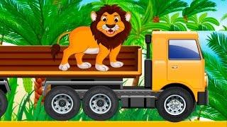 Мультик про машинки и животных для детей. Видео с машинками.