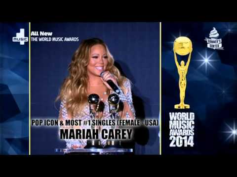 Mariah Carey Wins Pop Icon Award - The World Music Awards 2014