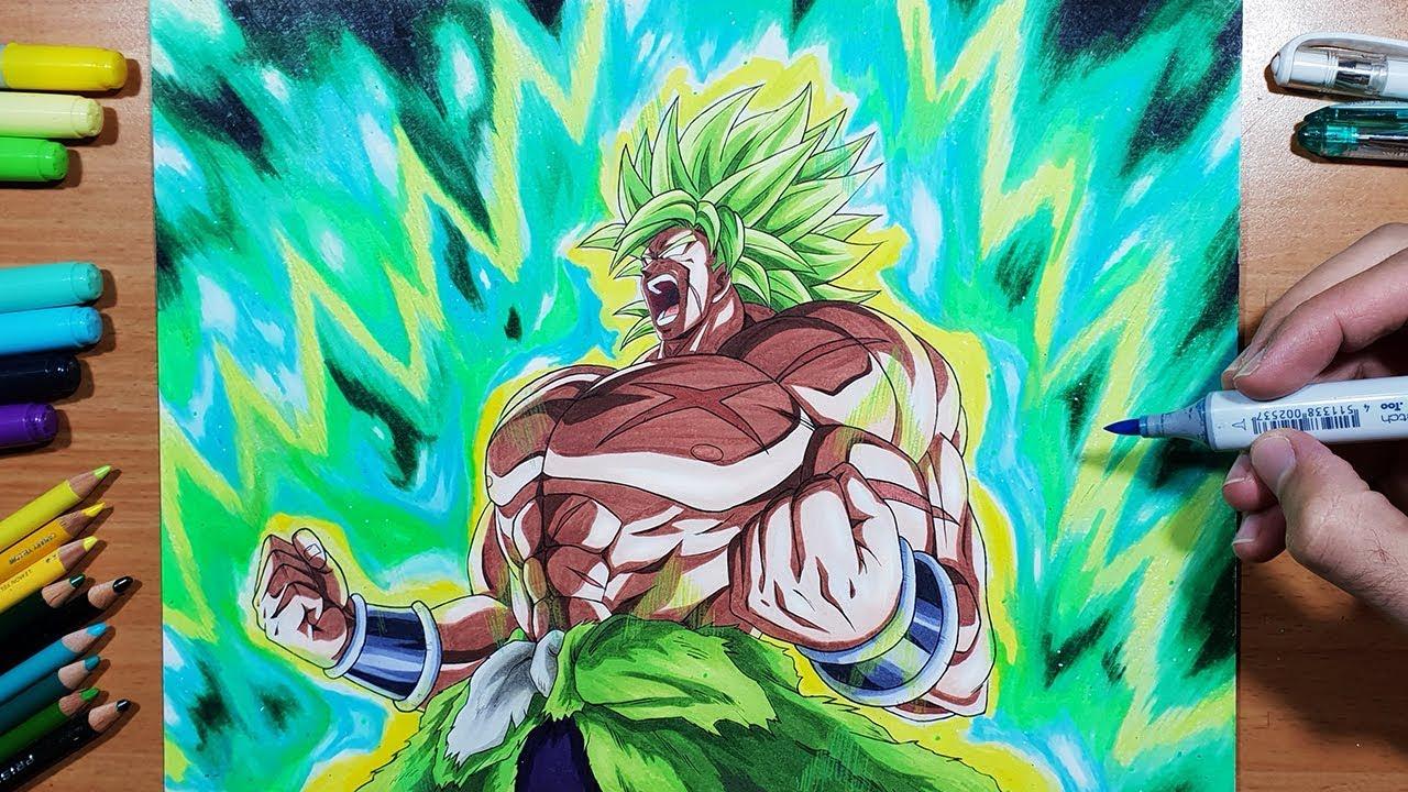 Drawing Broly Full Power Super Saiyan Youtube