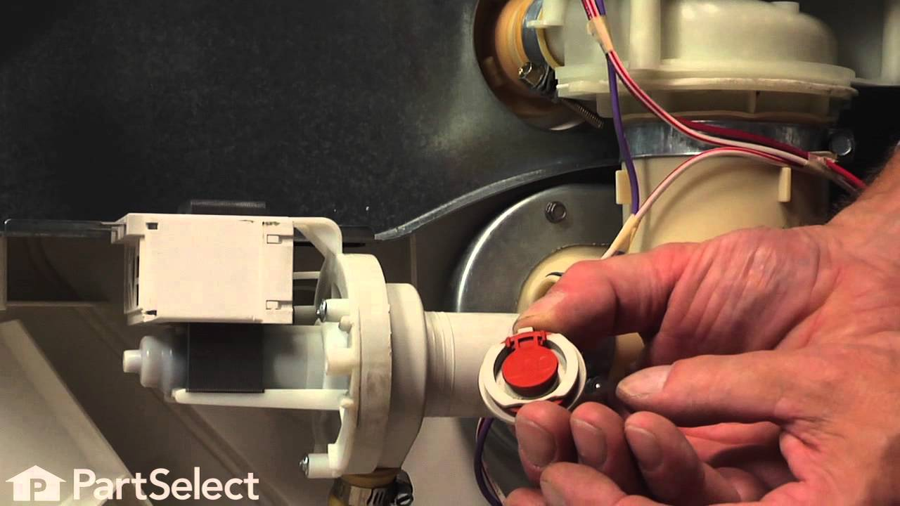 dishwasher repair replacing the check valve flapper ge part wd01x10175  [ 1280 x 720 Pixel ]