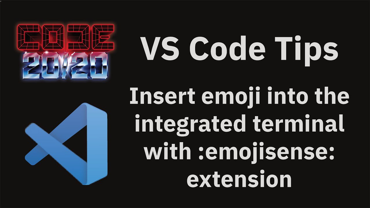 Insert emoji into the integrated terminal with :emojisense: extension