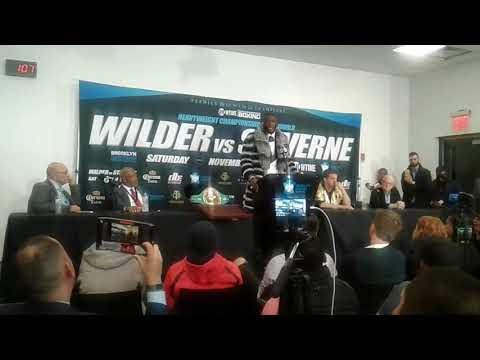 Deontay Wilder Post fight Interview 11/4 @ Showtime World Championship boxing #WilderStiverne2
