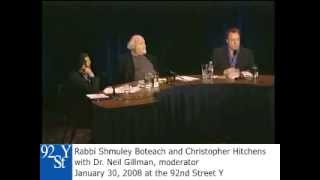 Christopher Hitchens and Rabbi Shmuley Boteach Debate on God
