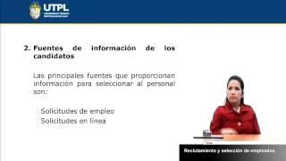 UTPL RECLUTAMIENTO Y SELECCIÓN DE EMPLEADOS [(ADM. DE EMPRESAS)(ADM. DE RECURSOS HUMANOS)]