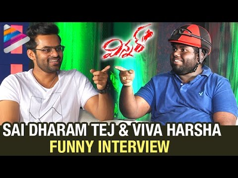 Sai Dharam Tej and Viva Harsha Funny Interview | Winner Movie | Rakul Preet | Telugu Filmnagar