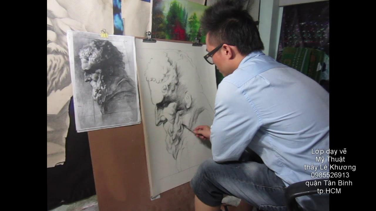 Hướng dẫn vẽ đầu tượng thạch cao