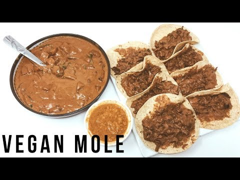 EASY VEGAN MOLE + MOLE TACOS | THE RAW BOY