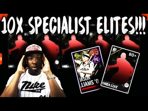 RIPPING OPEN 10X SPECIALIST ELITE PLAYER PACKS IN NBA LIVE MOBILE 18!!!