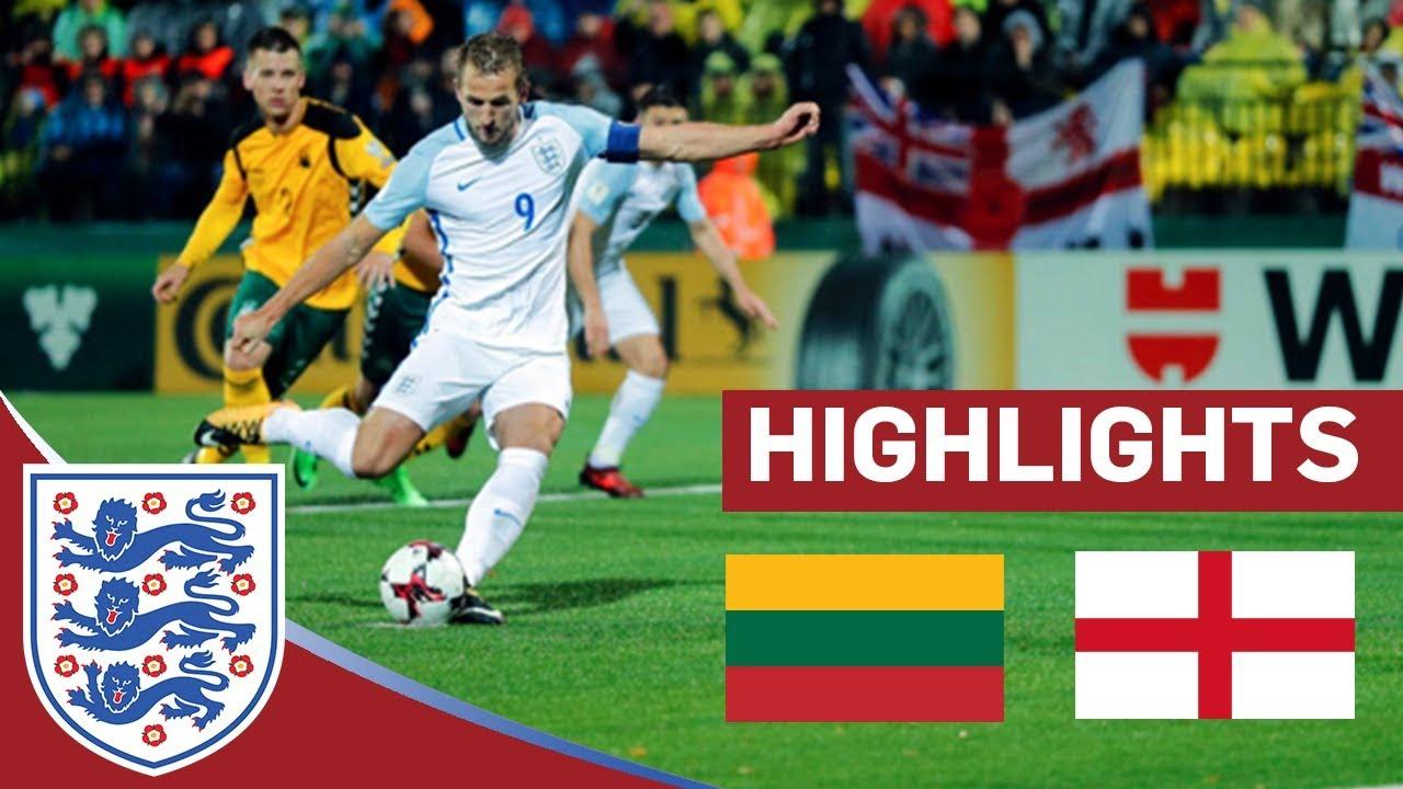Литва - Англия 0:1 видео