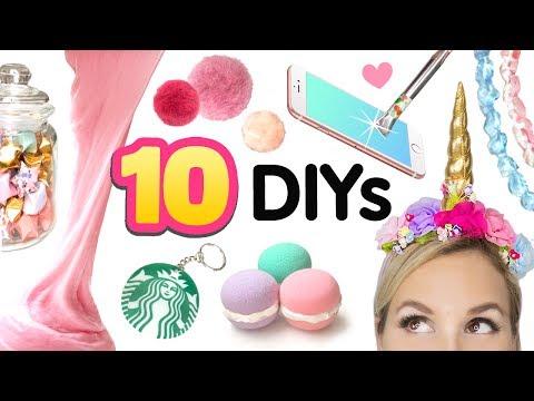 5 MINUTEN DIYs gegen Langeweile!!! 😍 Zehn Ideen! EINFACH & SCHNELL & LUSTIG Basteln