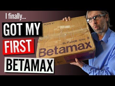 I finally got my first Betamax - 1985 powerful technology