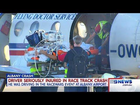Raceway Crash | 9 News Perth