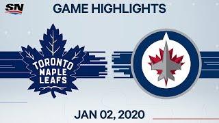 NHL Highlights | Maple Leafs vs. Jets - Jan. 2, 2020