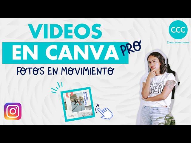 Cómo crear animaciones en Canva Pro - Foto en movimiento (en Español) | Canva con Diana Muñoz