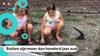 Janessa (9) en Ditte (10) vinden mensenbotten