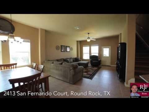 Video tour of 2413 San Fernando Court, Round Rock, TX 78665