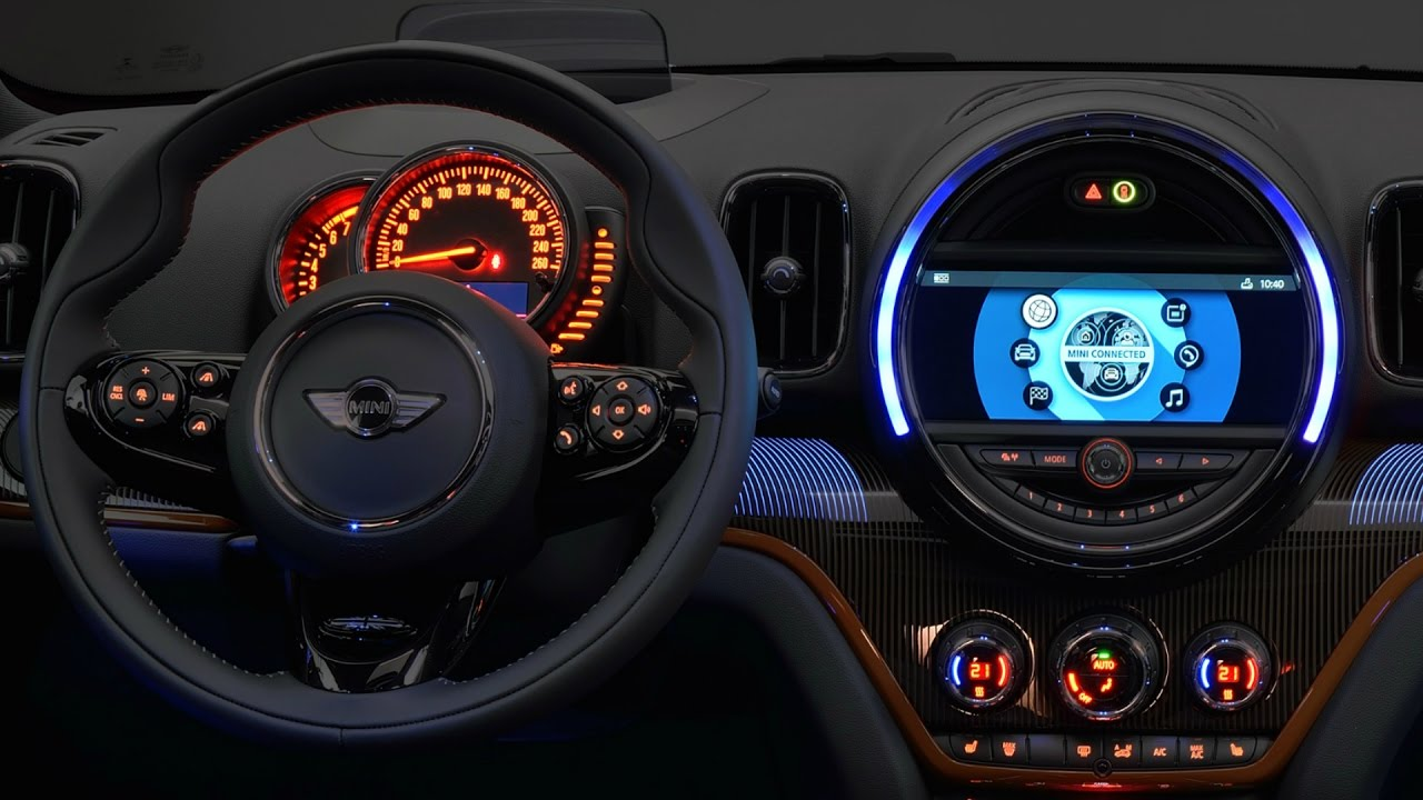 Mini Cooper Dashboard >> 2017 MINI Cooper S Countryman ALL4 - Interior - YouTube