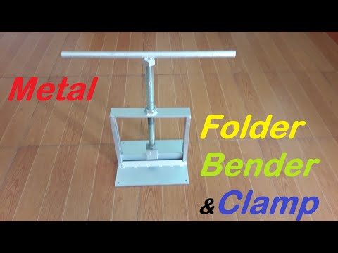 Amazing Homemade a Bench Metal Folder/Brake! DIY tool