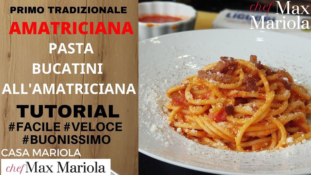 Ricetta Amatriciana Max.Bucatini All Amatriciana Di Casamariola Tutorial Step By Step Easy Recipe Eng Sub Youtube